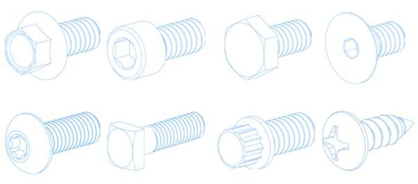 titanium bolt head type